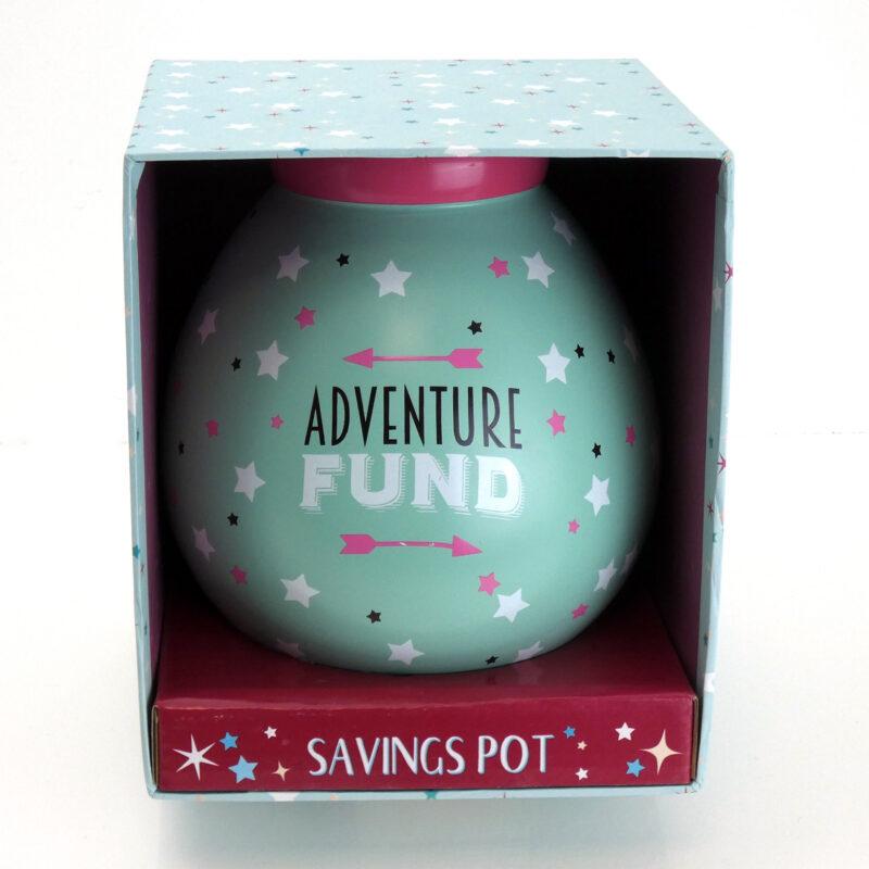 Adventure Fund saving pot box