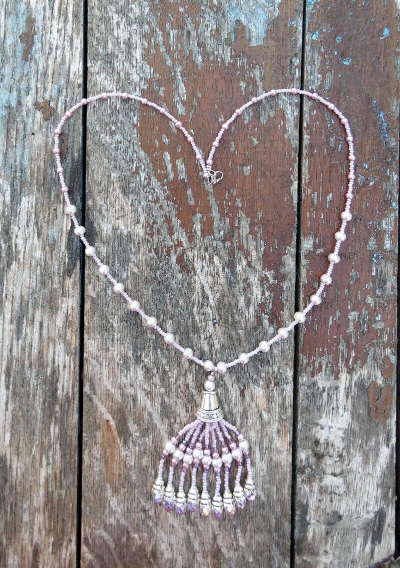 Pink Chandelier Necklace - Just4Ewe Jewellery