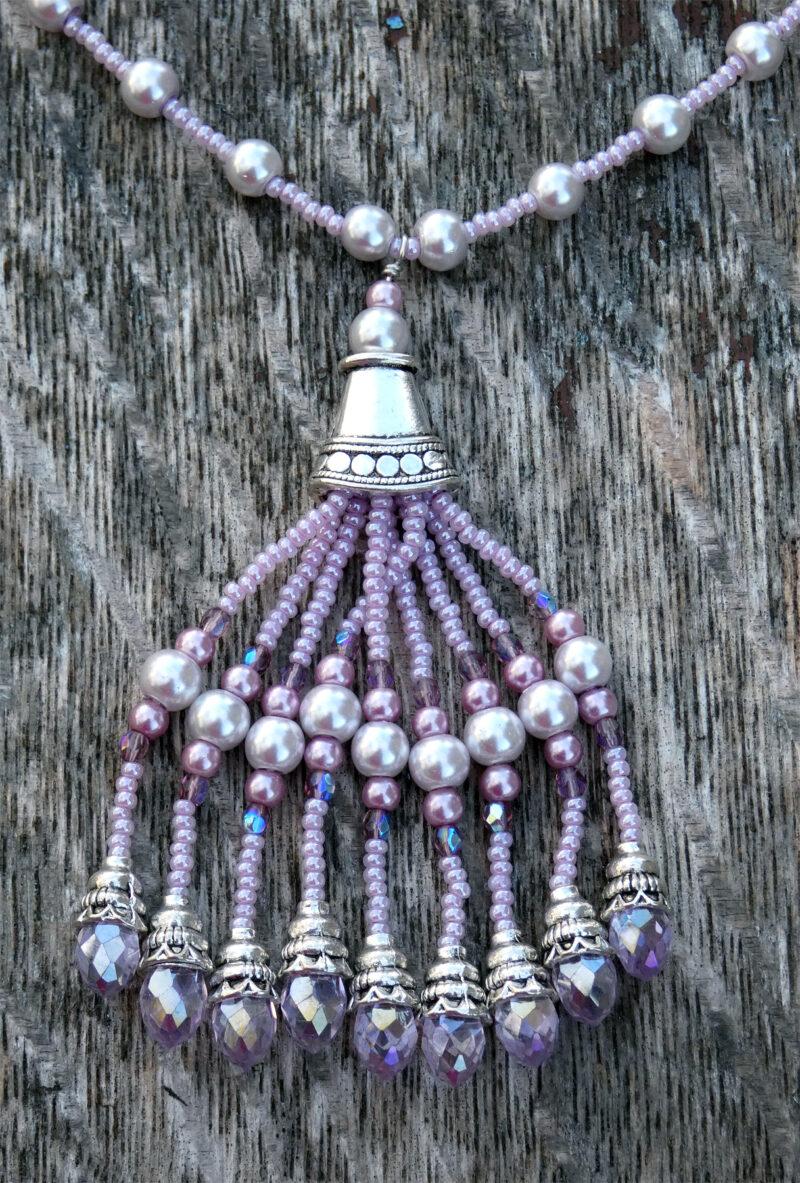 Pink Chandelier Necklace - Just 4 Ewe Jewellery