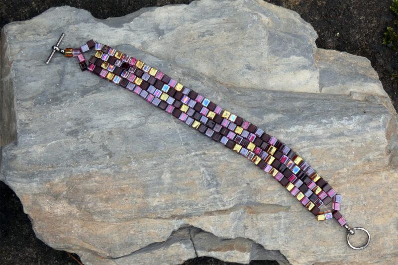 Peyote Stitch Miyuki Cube Bracelet Set - Just4Ewe Jewellery