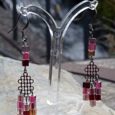 Peyote Stitch Miyuki Cube Earrings - Just4Ewe Jewellery
