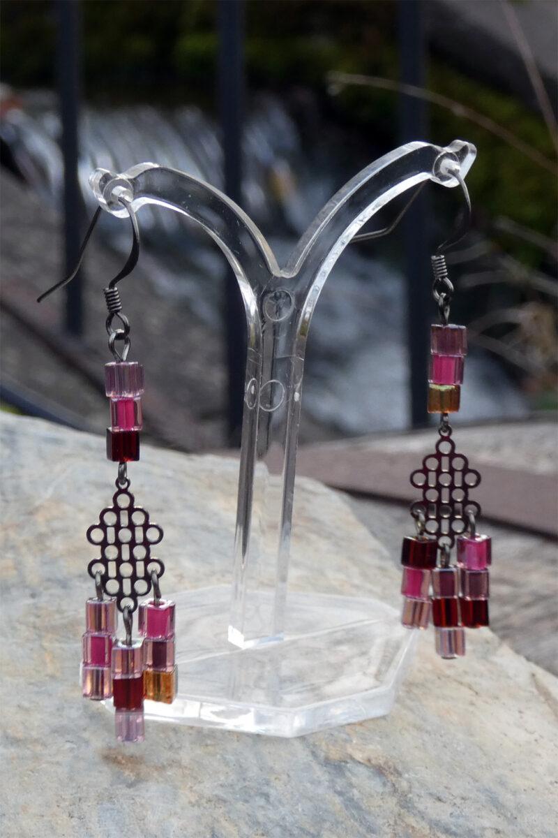 Peyote Stitch Miyuki Cube Earrings - Just4Ewe Jewellery