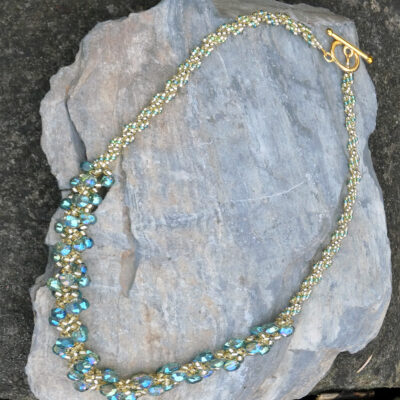Spiral Stitch Necklace Jade - Just4Ewe Jewellery