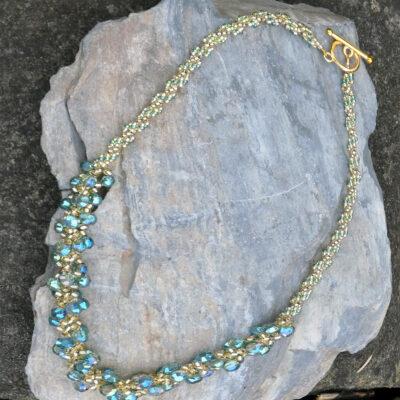 Spiral Stitch Necklace Jade - Just4Ewe Jewellery