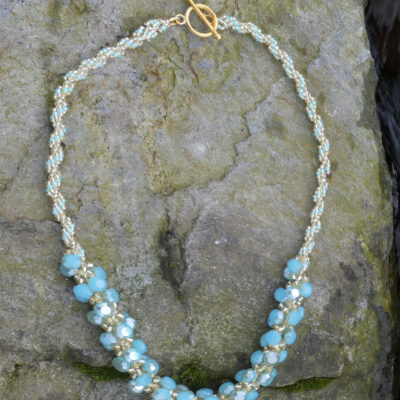 Spiral Stitch Necklace Torquoise - Just4Ewe Jewellery