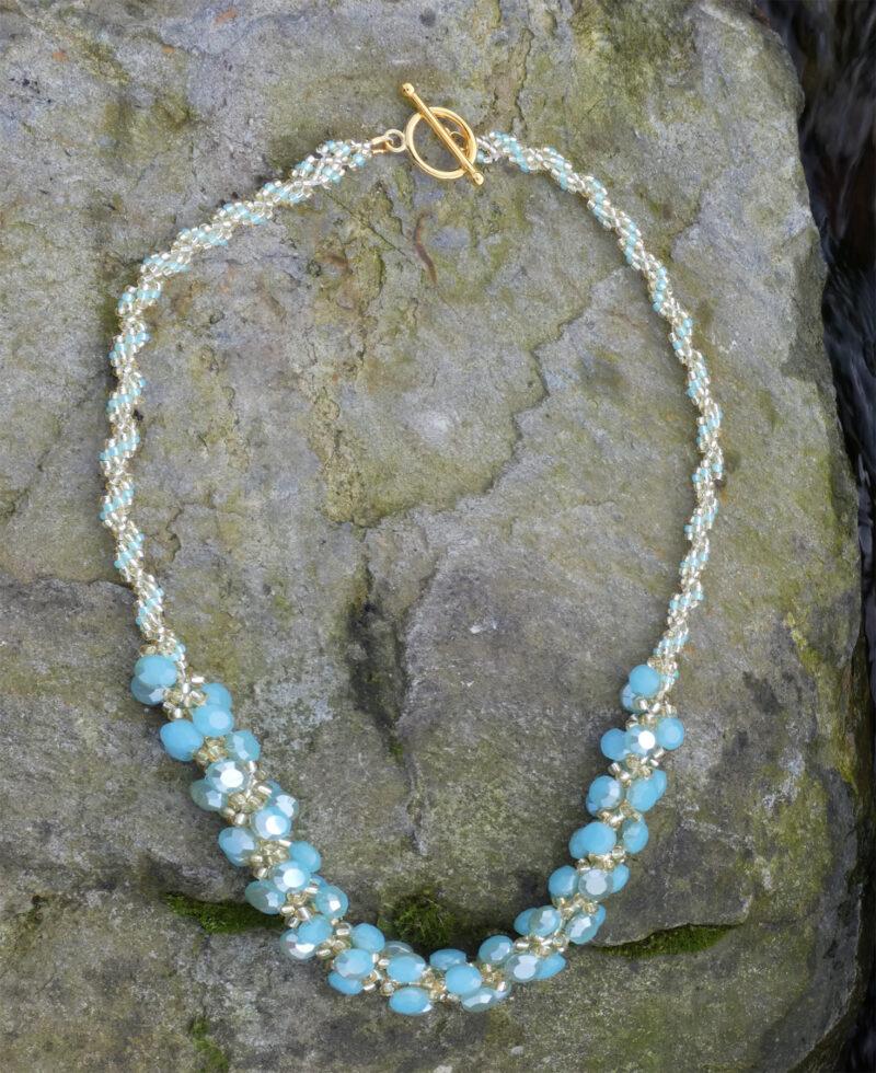 Spiral Stitch Necklace Torquoise - Just4Ewe Jewellery