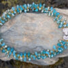 Twisted Crystal Necklace Torquoise - Just4Ewe Jewellery