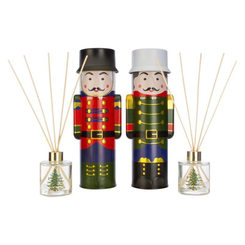 Christmas Tree Reed Diffuser in Nutcracker Tin