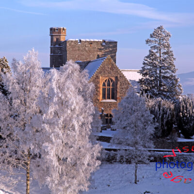 Biggar Kirk Winter Snow Fine Art Print