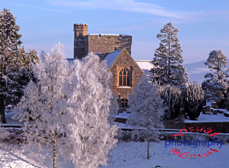 Biggar Kirk Winter Snow Fine Art Print