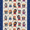 Cats n Kilts Tea Towel