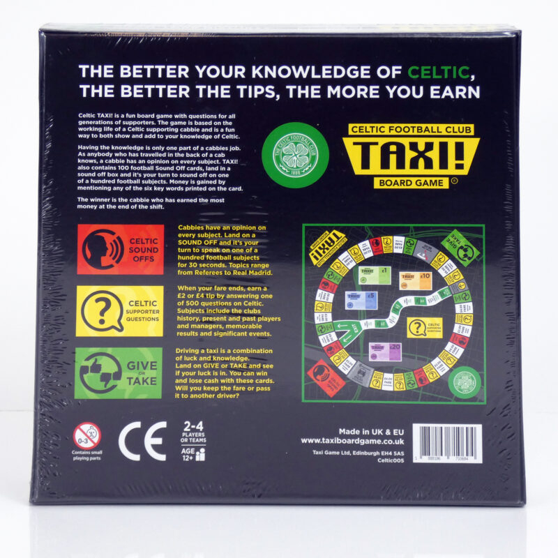 Celtic Taxi Board Game Back