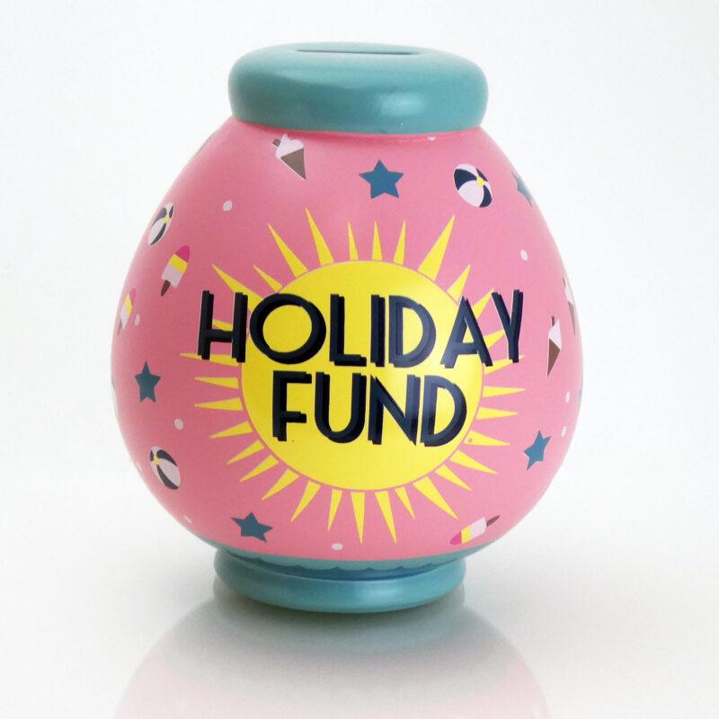 Holiday Fund Savings Pot Front