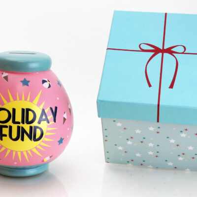 Holiday Fund Savings Pot with Box
