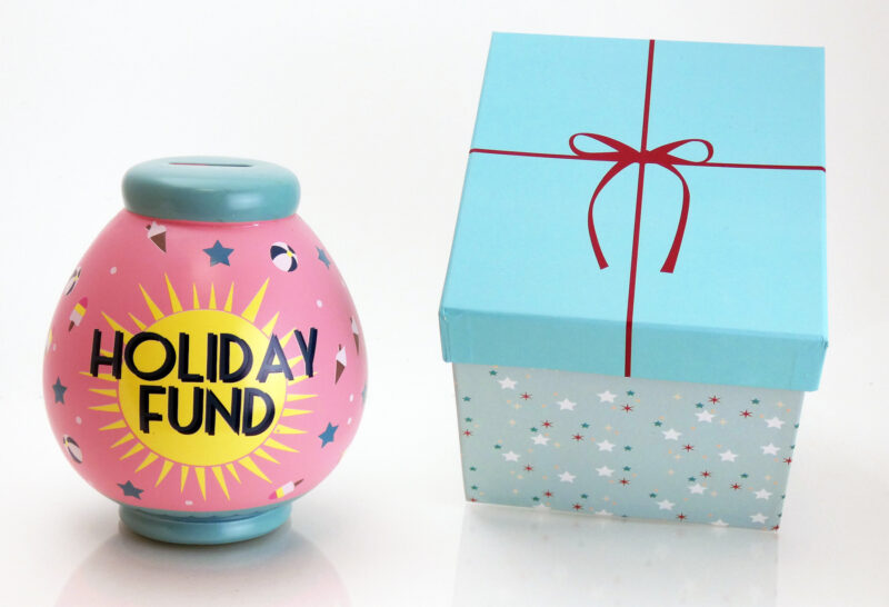 Holiday Fund Savings Pot with Box