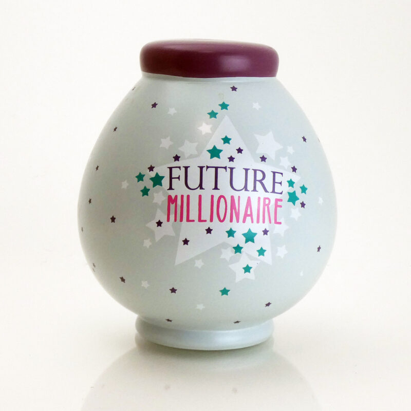 Future Millionaire Savings Pot Front