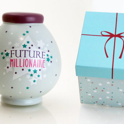 Future Millionaire Savings Pot with box
