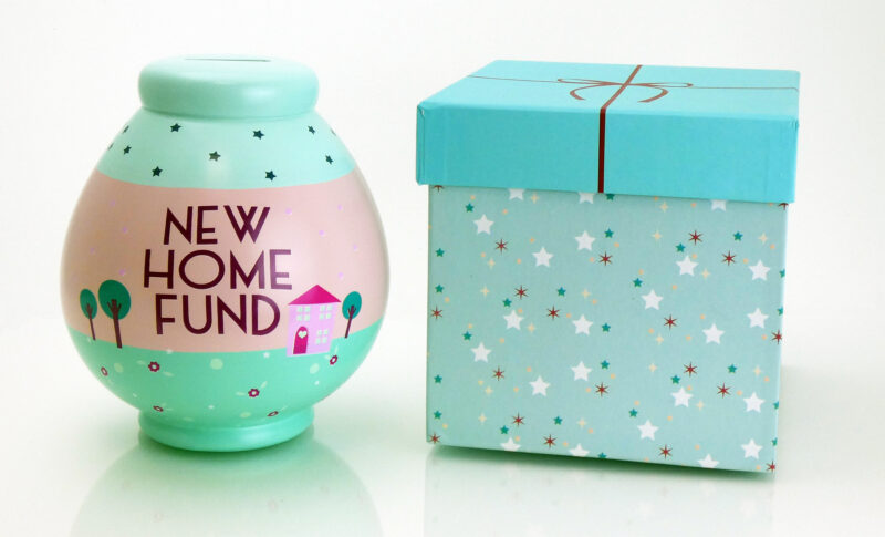 New Home Fund Savings Pot with Box