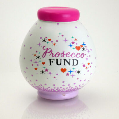 Prosecco Fund Savings Pot Front