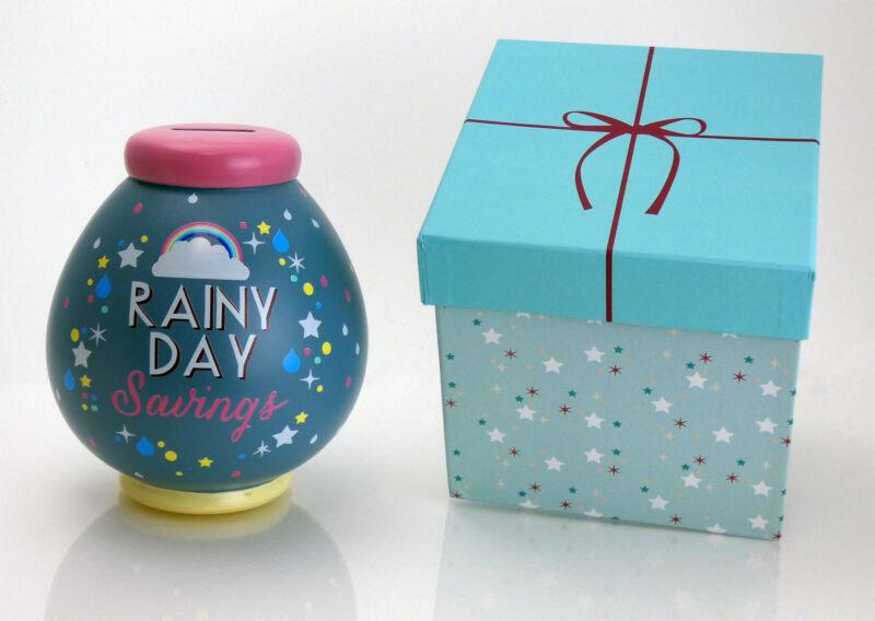 Rainy Day Savings Pot with Box