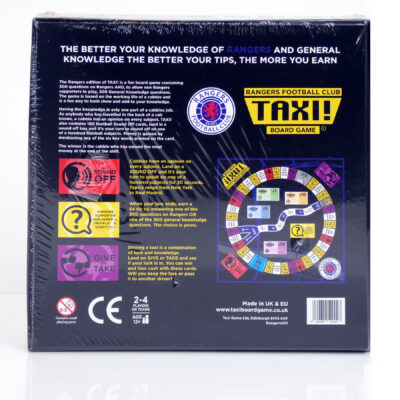 Rangers Taxi Board Game Back