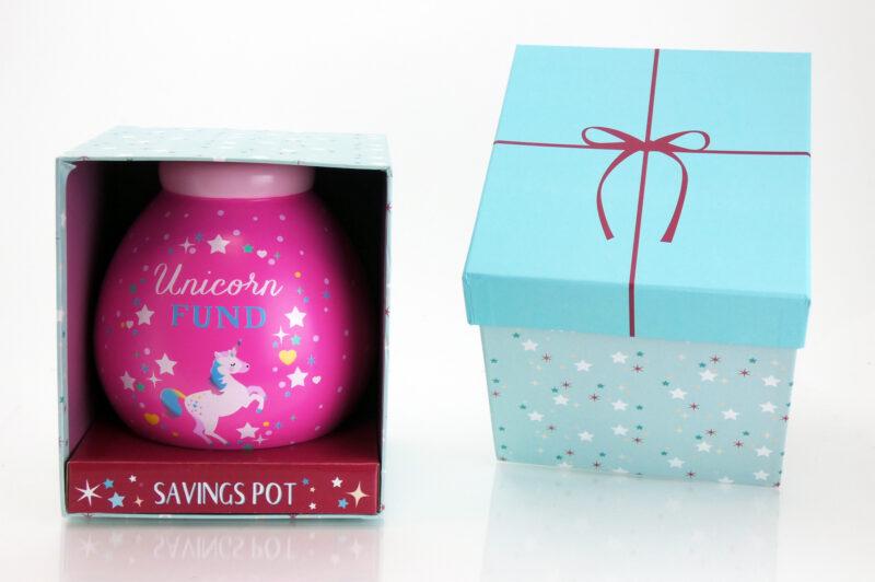 Unicorn Savings Pot with Box