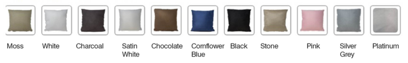 New selection of colours for cushion backs